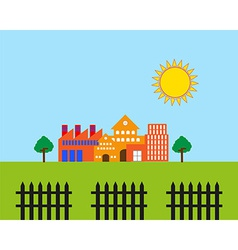 Real estate landscape vector