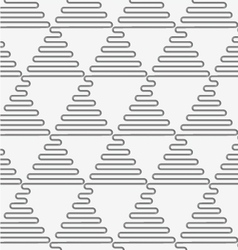 Perforated wavy triangles in rows vector