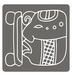 Icon with glyphs of the maya night lord vector
