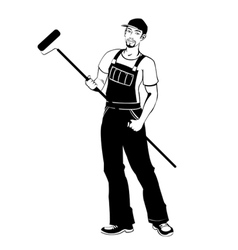 Man working painter vector