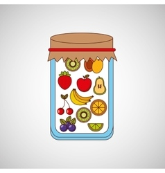 Fruit jam design vector