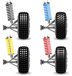 Set front car suspension vector image
