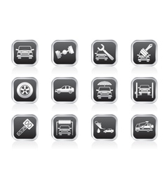 auto service and transportation icons vector image