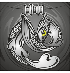 big mouth fish vector image vector image