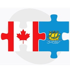 Canada and saint pierre and miquelon vector