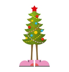 Christmas Tree in boots Christmas tree in shoe vector image vector image