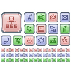 Communication buttons vector image