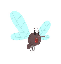 Cute cartoon midge character vector