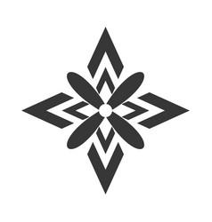 Decorate ornate style design vector