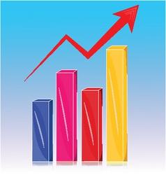 Graph arrow vector