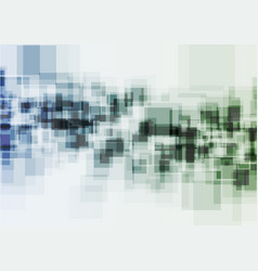 Green blue squares abstract technology background vector