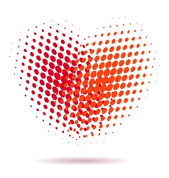 Heart spotted pattern isolated vector