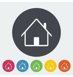 Home single icon vector image