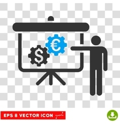 International banking project eps icon vector
