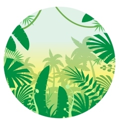 Jungle Flat Background13 vector image vector image
