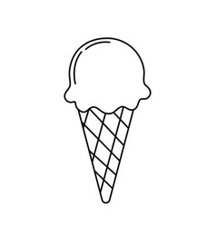 Line delicious ice cream to refresh the day vector