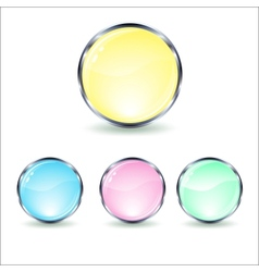 mint glass button vector image