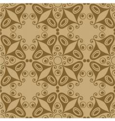retro ornamental tile butterfly vector image vector image