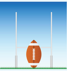 Rugby ball on field vector