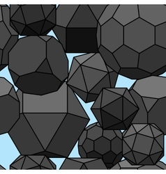 Seamless pattern 3d geometric shapes vector