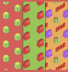 Seamless pattern with packages and gifts vector