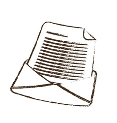 sketch draw email envelope message letter vector image vector image