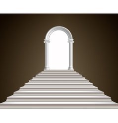 Staircase and arch vector image vector image