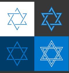 Star of david israel sign and symbol vector