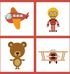 Toys design vector image