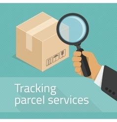 Tracking parcel services vector