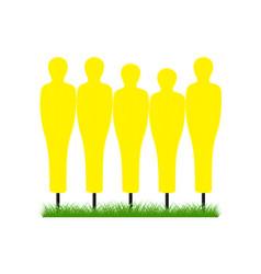 Training free-kick wall in yellow design vector