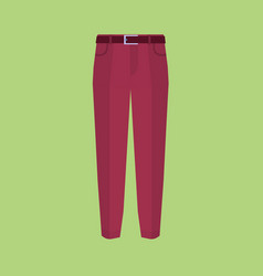 Trousers icon on green modern pants vector