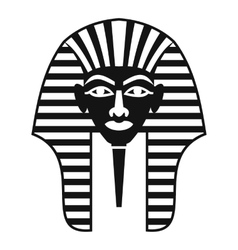 Tutankhamen mask icon simple style vector image