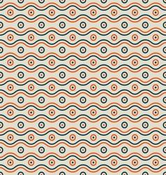 Waves and circles pattern vector image