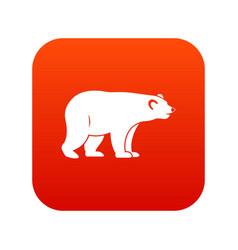 Wild bear icon digital red vector