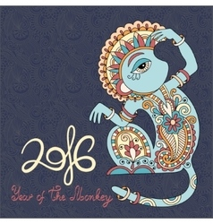 Year of The Monkey vector image