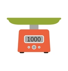 Food scale icon vector