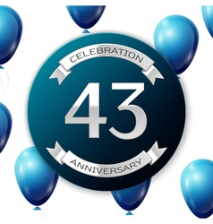 Silver number forty three years anniversary vector