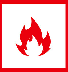 Fire icon isolated on white background vector