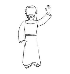 jesus christ devotion sacrifice image sketch vector image