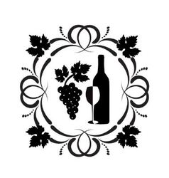wine ornament vector image