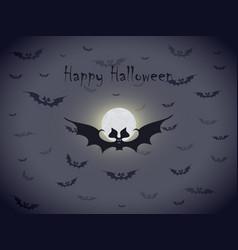 Halloween bats greetings card vector