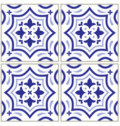 azulejo - portuguese tile design seamless vector image