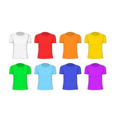 man t-shirt cotton clothing vector image
