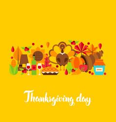 Thanksgiving day postcard vector