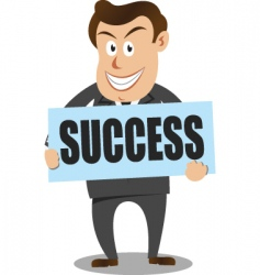 Success businessman vector