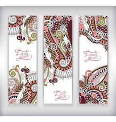Set of decorative flower template banner card web vector
