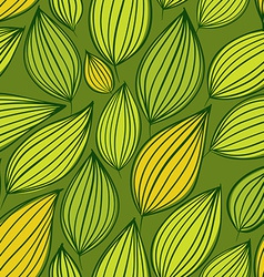 Seamless floral pattern green leaves seamless vector