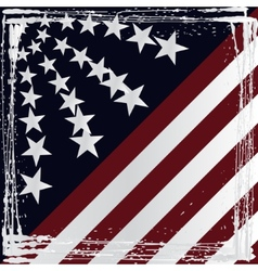 American flag grunge style vector
