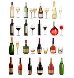 big set of different drinks vector image